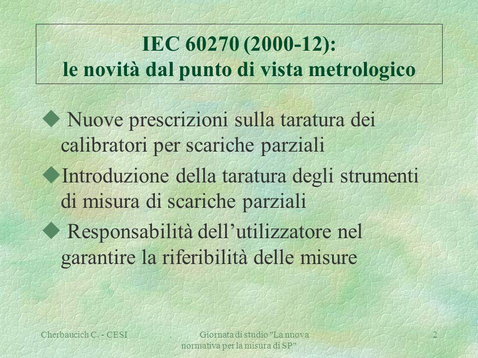 Cherbaucich C. - CESI.