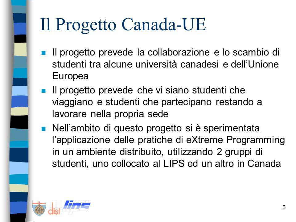 5 Il Progetto Canada-UE n Il progetto prevede la collaborazione e lo scambio di studenti tra alcune università canadesi e dellUnione Europea n Il prog
