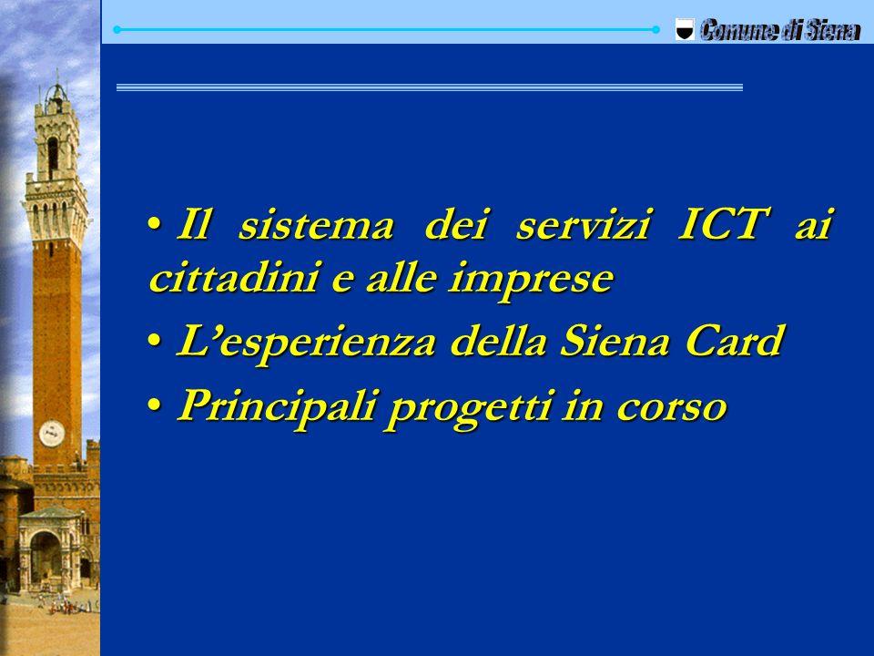Il sistema dei servizi ICT ai cittadini e alle imprese Il sistema dei servizi ICT ai cittadini e alle imprese Lesperienza della Siena Card Lesperienza