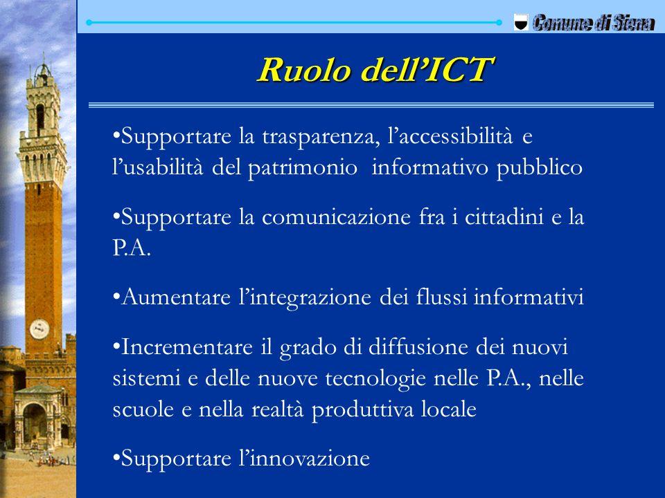 Supportare la trasparenza, laccessibilità e lusabilità del patrimonio informativo pubblico Supportare la comunicazione fra i cittadini e la P.A. Aumen