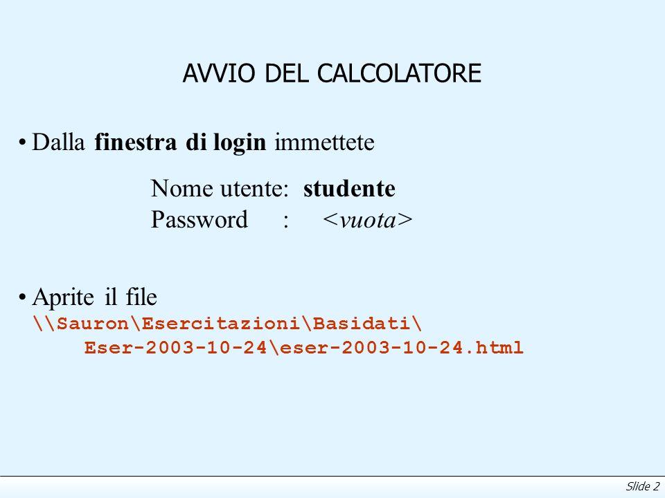 Slide 3 OBIETTIVI DELL ESERCITAZIONE Utilizzare Oracle 9i Lite e l ambiente MSQL per: effettuare query con group-by e operatori di aggregazione effettuare query annidate definizione e uso di viste