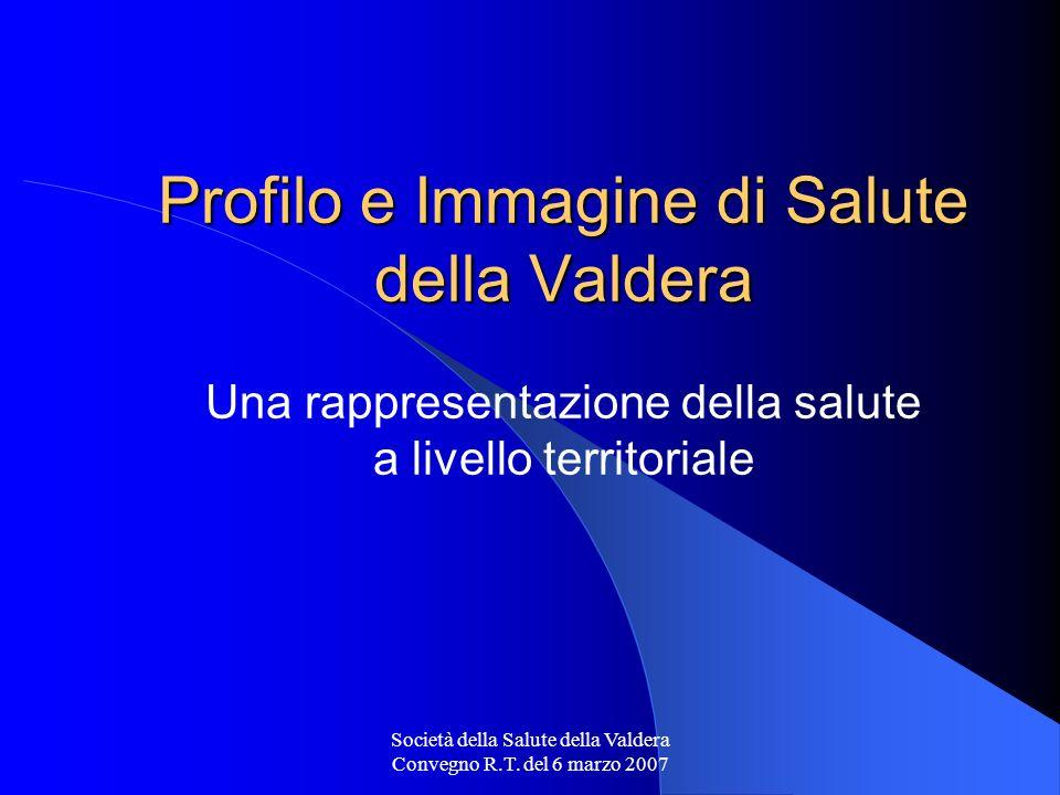 Società della Salute della Valdera Convegno R.T. del 6 marzo 2007 Profilo e Immagine di Salute della Valdera Profilo e Immagine di Salute della Valder