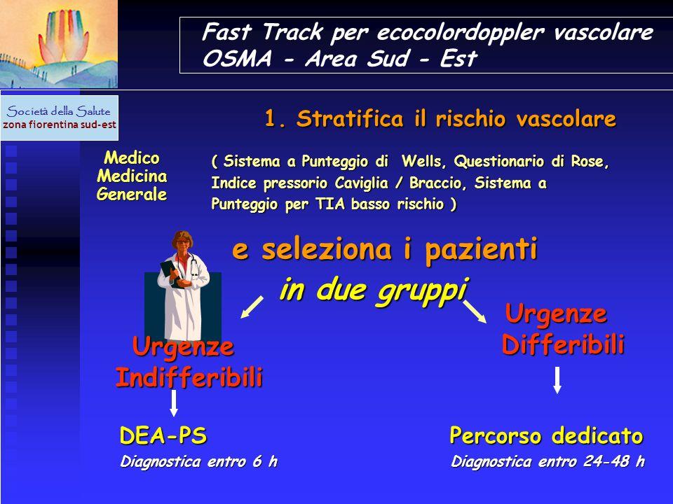 Fast Track per ecocolordoppler vascolare OSMA - Area Sud - Est Societ à della Salute zona fiorentina sud-est Medico Medicina Generale Medico Medicina