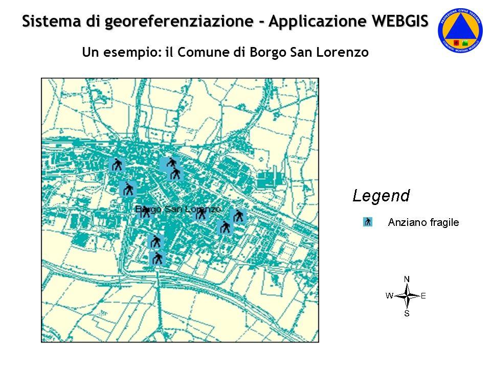 Sistema di georeferenziazione - Applicazione WEBGIS Un esempio: il Comune di Borgo San Lorenzo