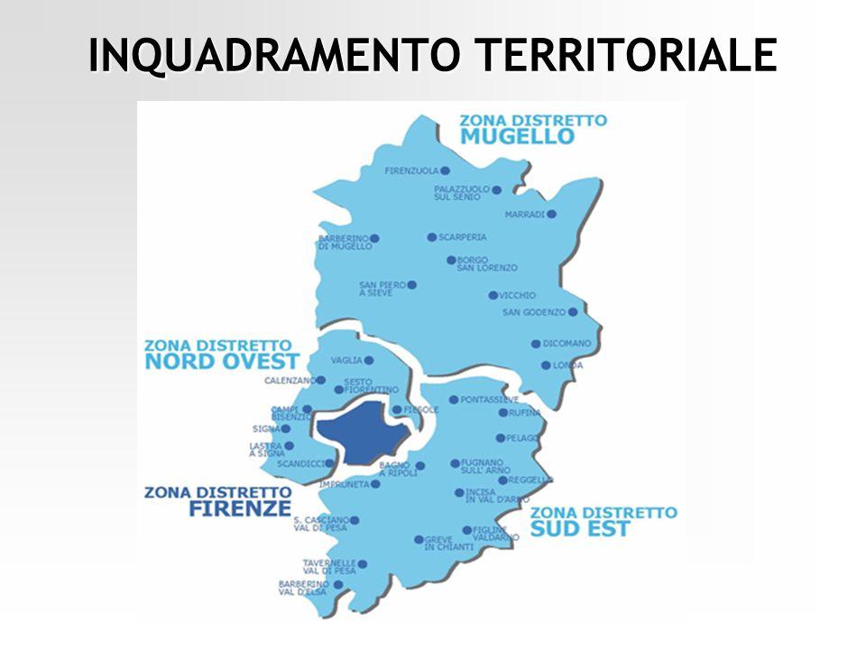1.290 Kmq 50 individui Estensione territoriale di 1.290 Kmq costituita per metà da superficie montana con una densità abitativa media di 50 individui per kmq Comune di FIRENZUOLA: comune montano, il più esteso tra gli 11 comuni (272,06 Kmq) con una bassa densità (18 individui per kmq) FRAZIONI Bruscoli Pietramala Piancaldoli DISTANZA dal CENTRO DEL PAESE ad alcune FRAZIONI: Bruscoli 18 km Pietramala 11 km Piancaldoli 22 km