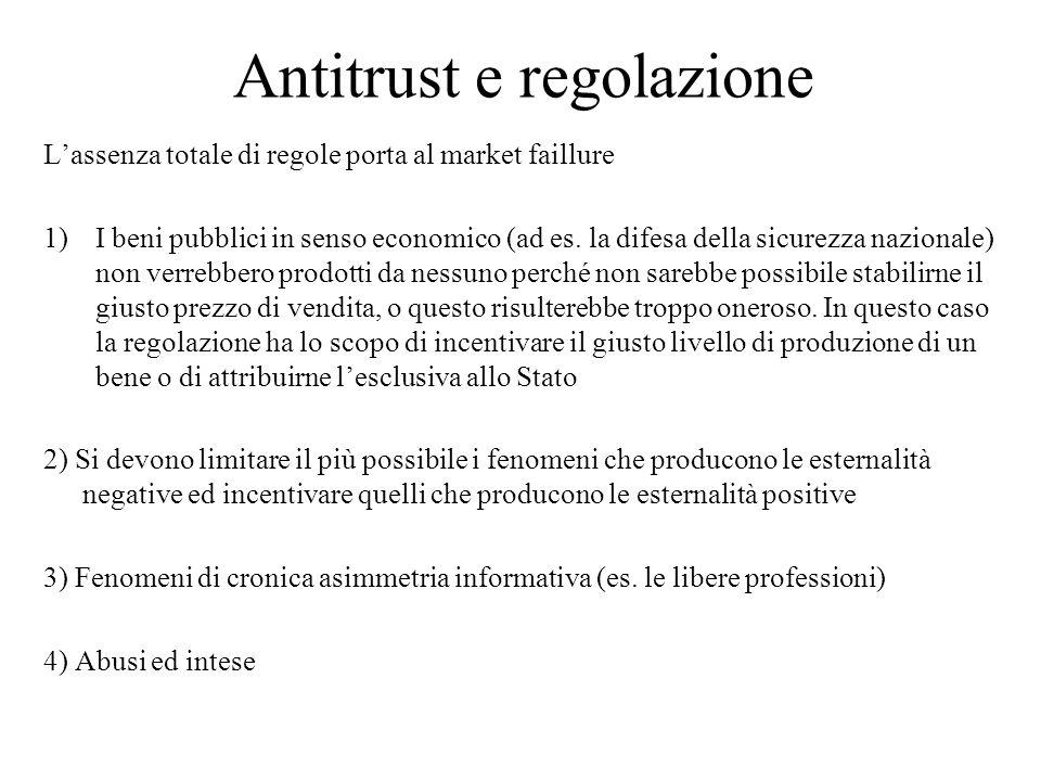 Lassenza totale di regole porta al market faillure 1)I beni pubblici in senso economico (ad es.