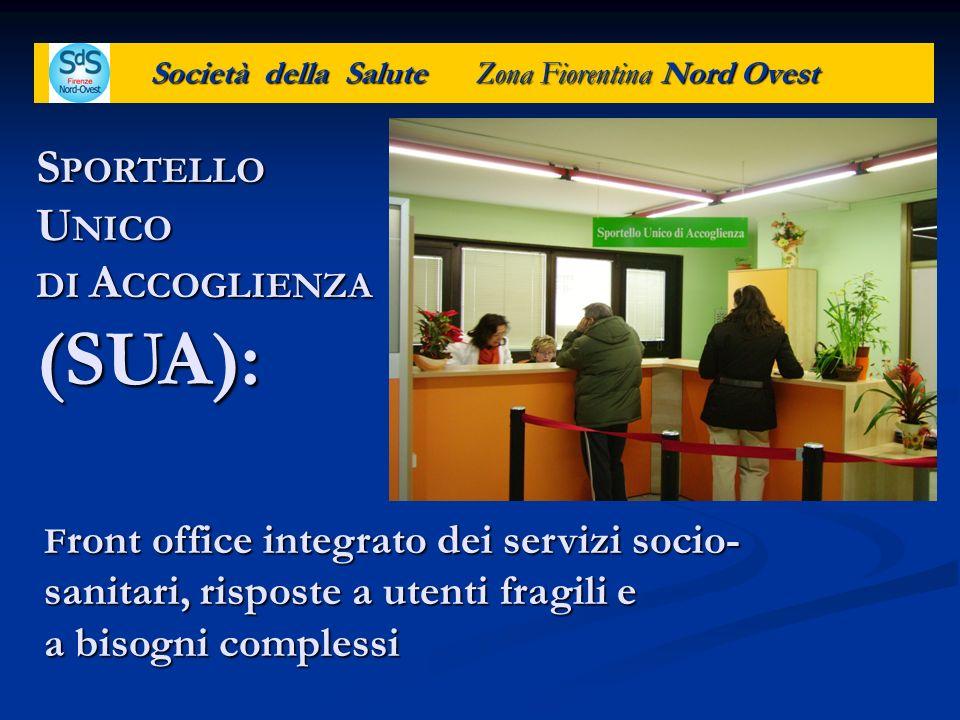 Società della Salute Zona Fiorentina Nord Ovest F ront office integrato dei servizi socio- sanitari, risposte a utenti fragili e a bisogni complessi S