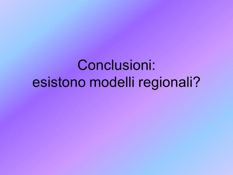 Conclusioni: esistono modelli regionali?