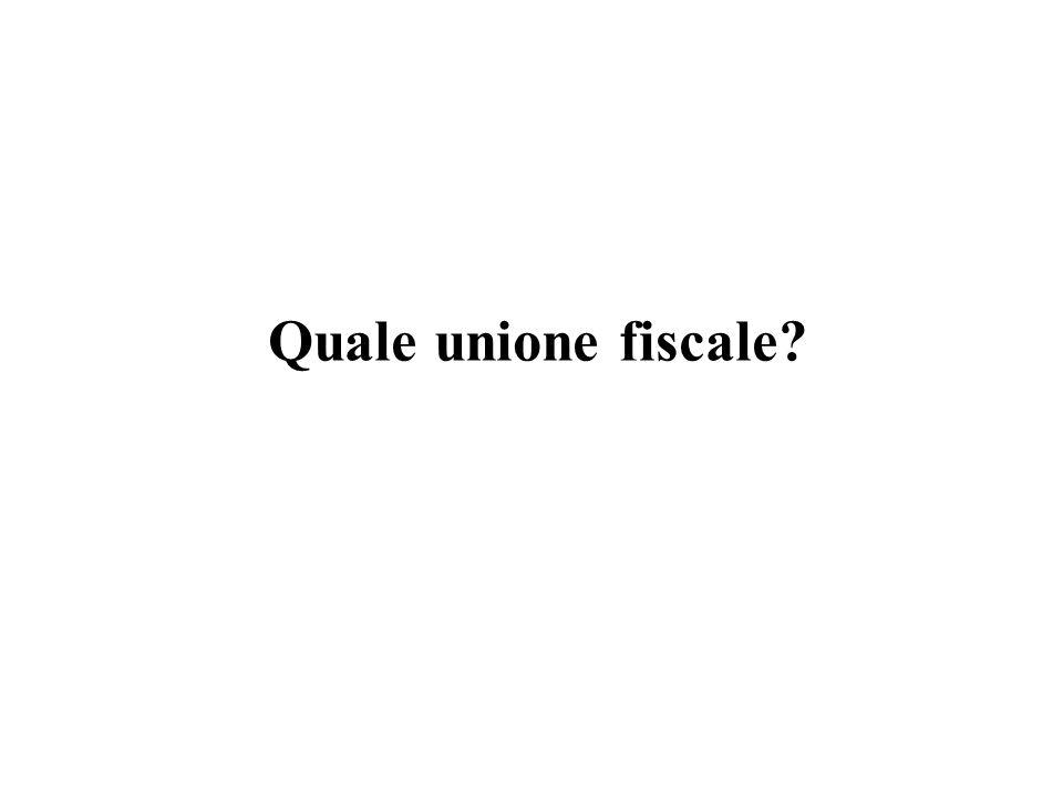 Quale unione fiscale?