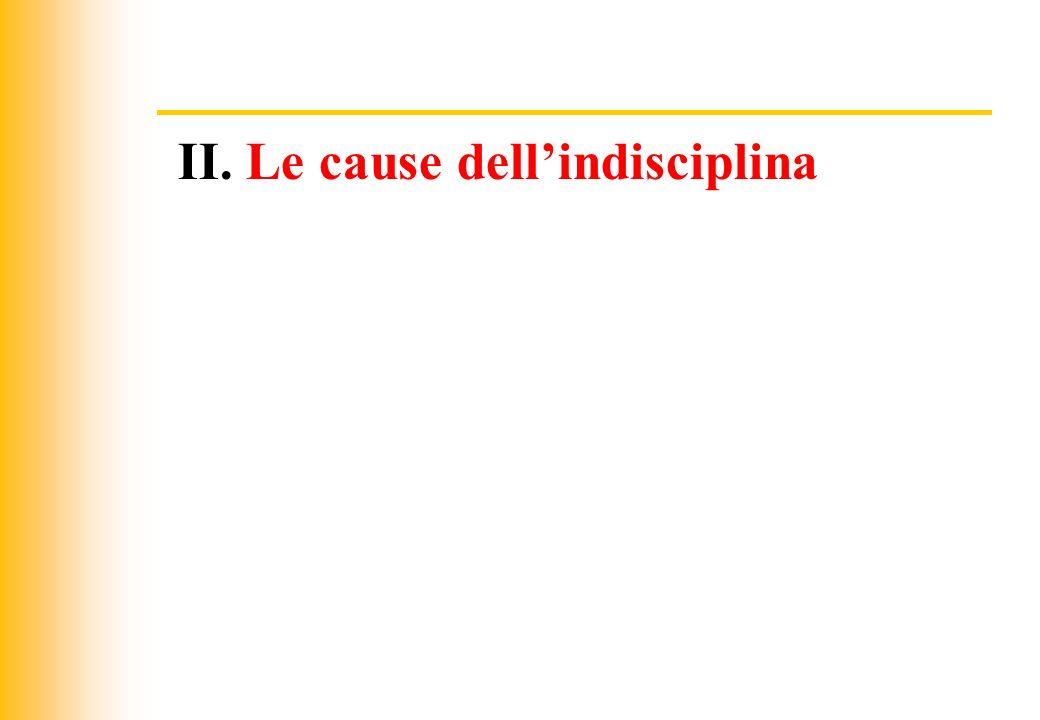 JIQ II. Le cause dellindisciplina
