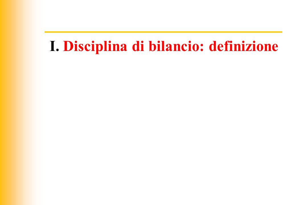 JIQ I. Disciplina di bilancio: definizione