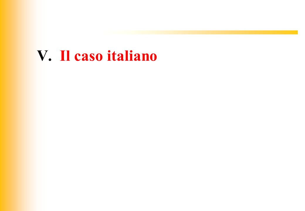 JIQ V. Il caso italiano