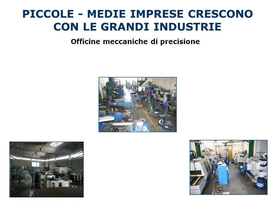 Officine meccaniche di precisione PICCOLE - MEDIE IMPRESE CRESCONO CON LE GRANDI INDUSTRIE