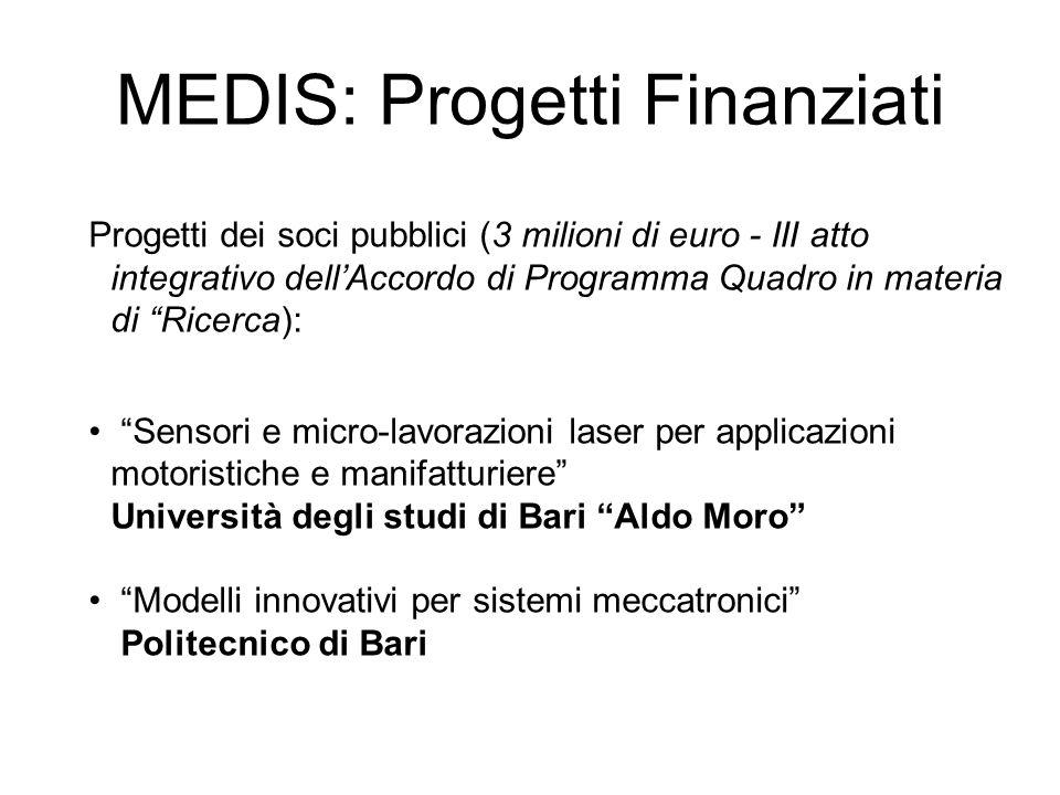 Progetti dei soci pubblici (3 milioni di euro - III atto integrativo dellAccordo di Programma Quadro in materia di Ricerca): Sensori e micro-lavorazio
