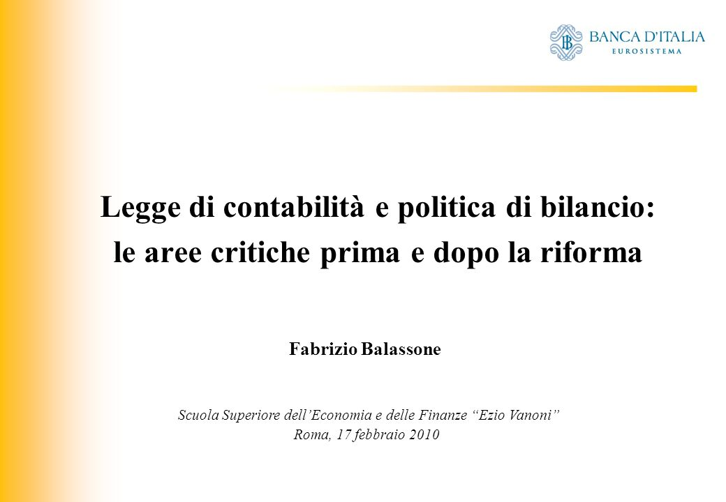 JIQ COMPRENSIONE DEI PROBLEMI - 15 Previsioni a medio termine [(Fiscal Transparency Code, IMF (2007)] Accountability: A medium-term budget framework, if applied rigorously, provides: a very clear statement of the revenue and expenditure effects of maintaining current government policies, a mechanism for controlling the introduction of new policies a tool for tracking budget implementation beyond a single year.