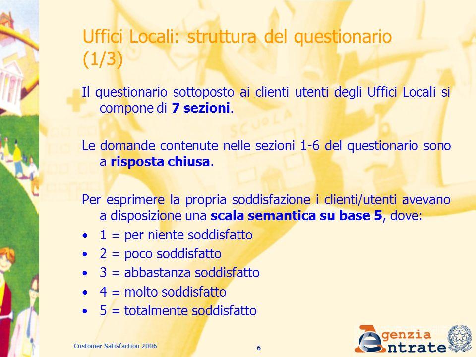 67 Customer Satisfaction 2006 Fisco on line: adeguatezza gamma servizi offerti (2005 – 2006) 2006 2005