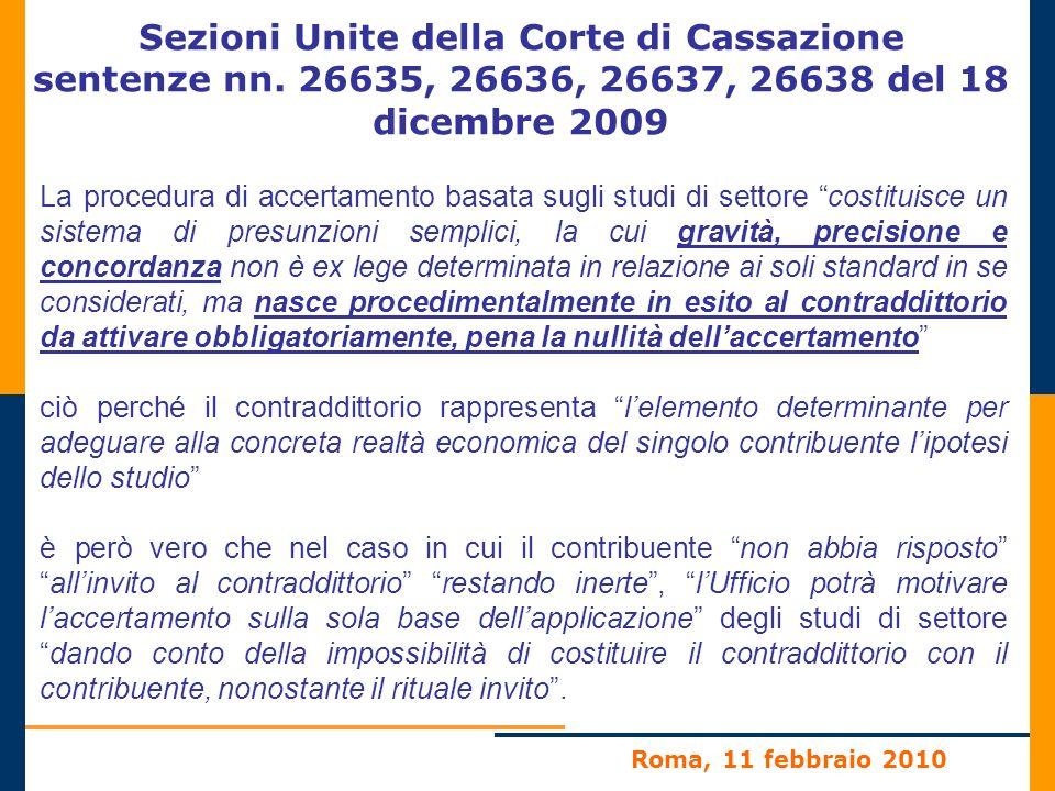 Sezioni Unite della Corte di Cassazione sentenze nn.