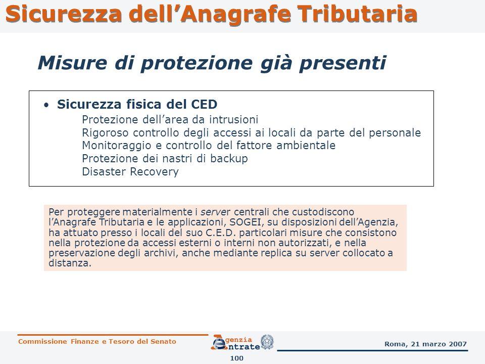 Sicurezza fisica del CED Protezione dellarea da intrusioni Rigoroso controllo degli accessi ai locali da parte del personale Monitoraggio e controllo
