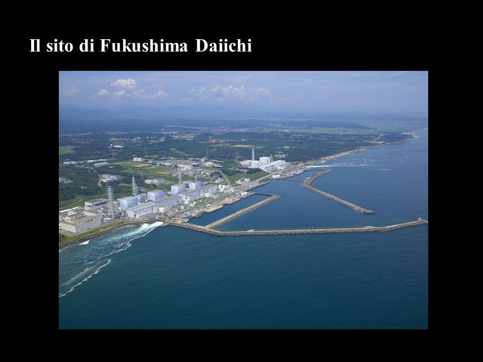 Reattore/ Stato 11/3 TipoPotenza Termica [MW] Potenza Elettrica [MW] Inizio costruzione Inizio esercizio Efficienza (2000/2009) Fukushima 1 In funzione BWR 313804397/19673/197147,6 Fukushima 2 In funzione BWR 423817606/19697/197467,4 Fukushima 3 In funzione BWR 4238176012/19706/197669,0 Fukushima 4 Vuoto BWR 423817602/197310/197862,2 Fukushima 5 Manutenzione BWR 423817605/19724/197867,4 Fukushima 6 Manutenzione BWR 53293106710/197310/197967,3