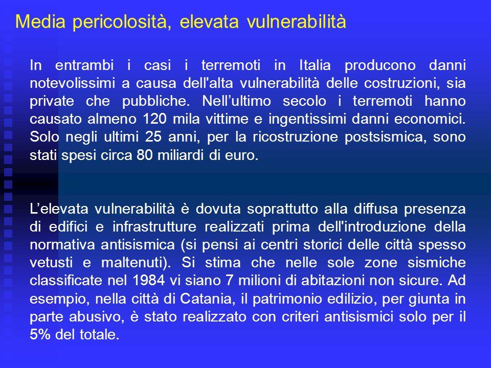 E noto che il territorio italiano è stato interessato da diversi forti terremoti con conseguenze disastrose per la società.