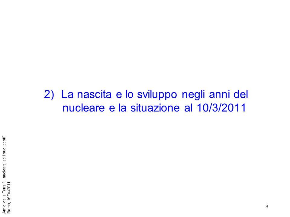 39 Amici della Terra Il nucleare ed i suoi costi Roma, 15/04/2011 7)Opinione pubblica al 10/3/2011- Scorie