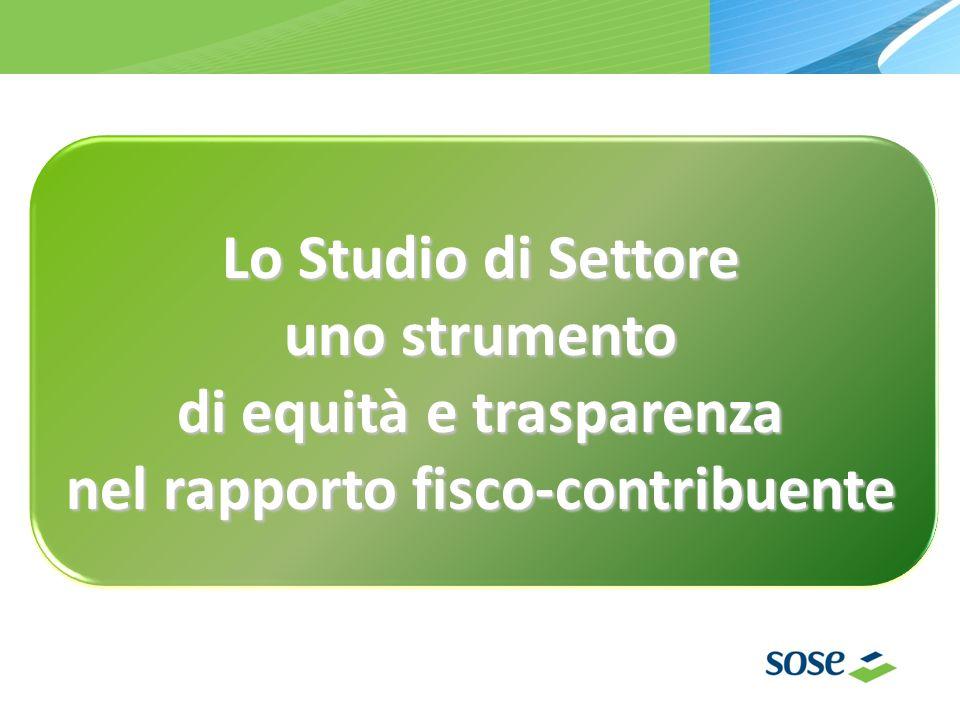Lo Studio di Settore uno strumento di equità e trasparenza nel rapporto fisco-contribuente