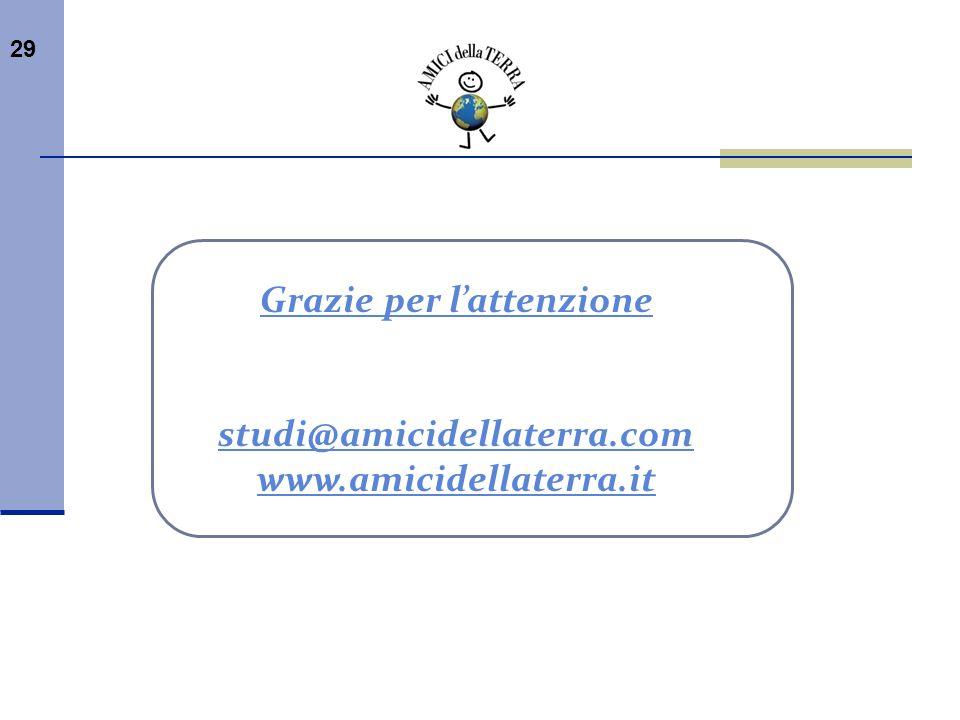 29 Grazie per lattenzione studi@amicidellaterra.com www.amicidellaterra.it