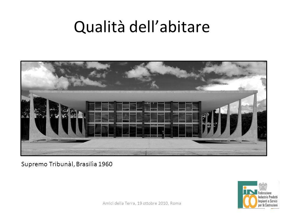11 Amici della Terra, 19 ottobre 2010, Roma Qualità dellabitare 11 Supremo Tribunàl, Brasilìa 1960