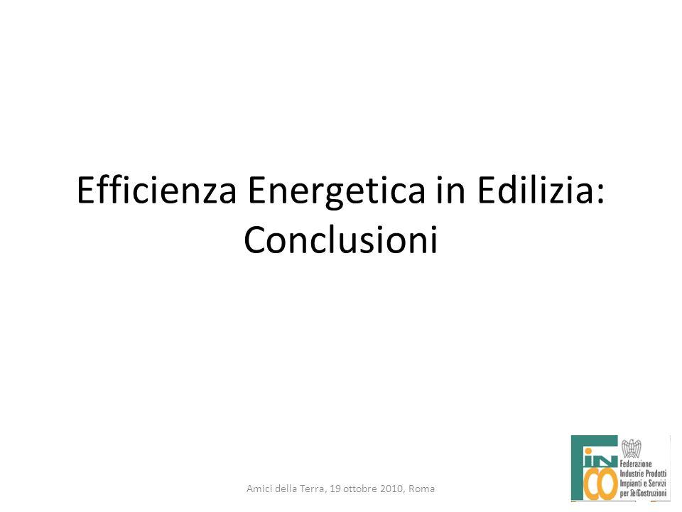 26 Amici della Terra, 19 ottobre 2010, Roma Efficienza Energetica in Edilizia: Conclusioni 26
