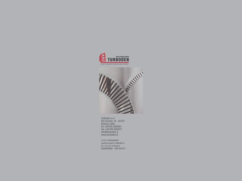 Turboden s.r.l. Via Cernaia, 10 - 25124 Brescia, Italia tel +390303552001 - fax +390303552011 info@turboden.it www.turboden.it C.F./P.I. IT02582620981