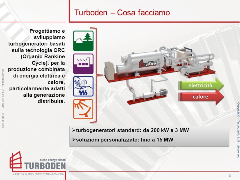 Copyright © – Turboden S.r.l. All rights reserved Copyright © – Turboden S.r.l. All rights rerved Turboden – Cosa facciamo turbogeneratori standard: d