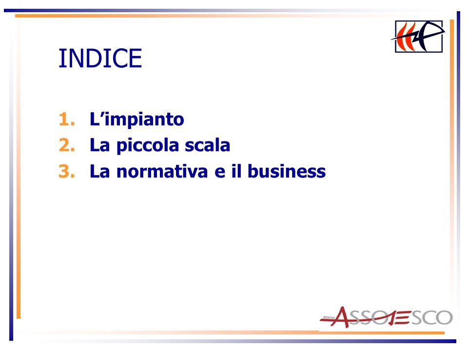 INDICE 1.Limpianto 2.La piccola scala 3.La normativa e il business