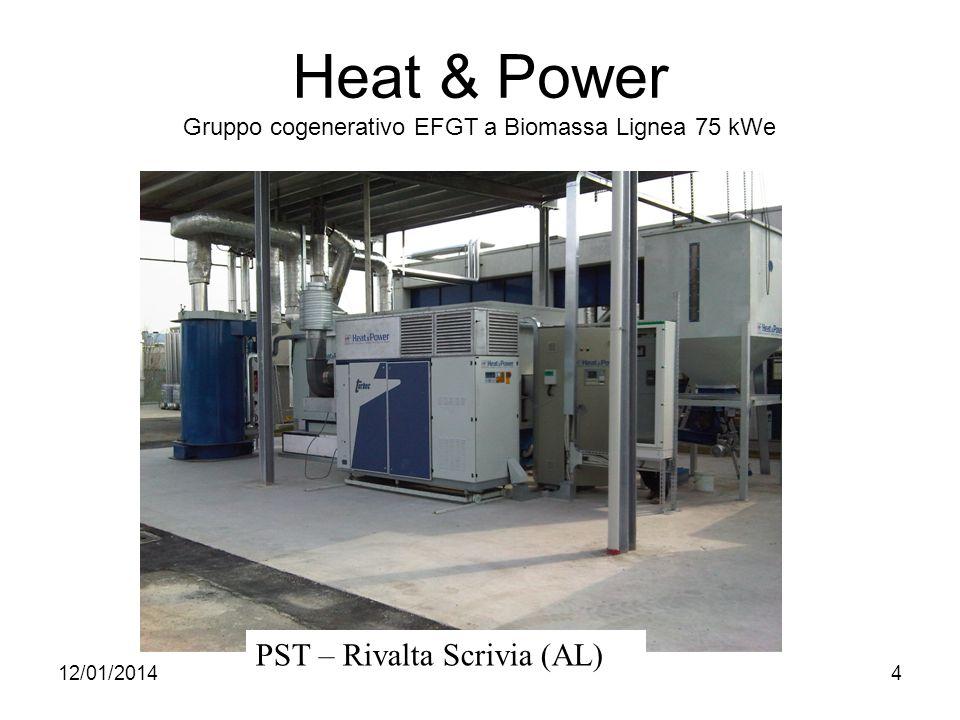 12/01/20144 Heat & Power Gruppo cogenerativo EFGT a Biomassa Lignea 75 kWe PST – Rivalta Scrivia (AL)