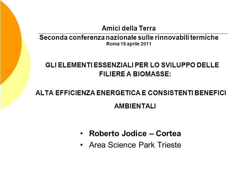Amici della Terra Seconda conferenza nazionale sulle rinnovabili termiche Roma 19 aprile 2011 GLI ELEMENTI ESSENZIALI PER LO SVILUPPO DELLE FILIERE A