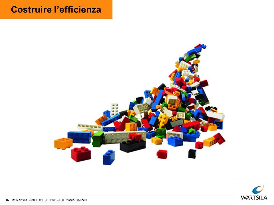 Costruire lefficienza 16 © Wärtsilä AMICI DELLA TERRA / Dr. Marco Golinelli