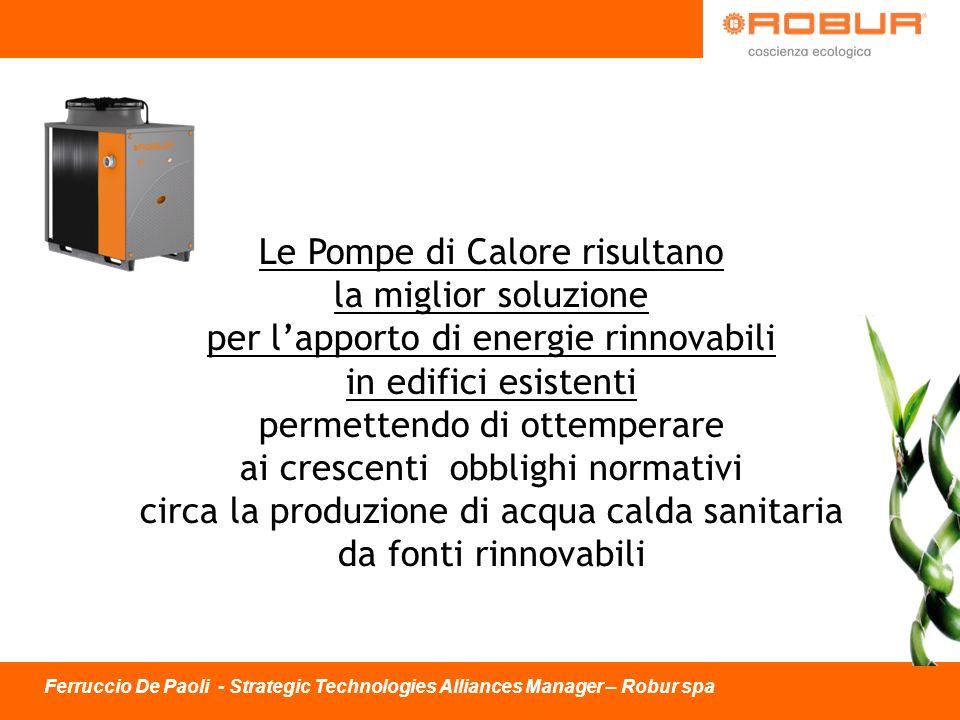 Le Pompe di Calore risultano la miglior soluzione per lapporto di energie rinnovabili in edifici esistenti permettendo di ottemperare ai crescenti obb