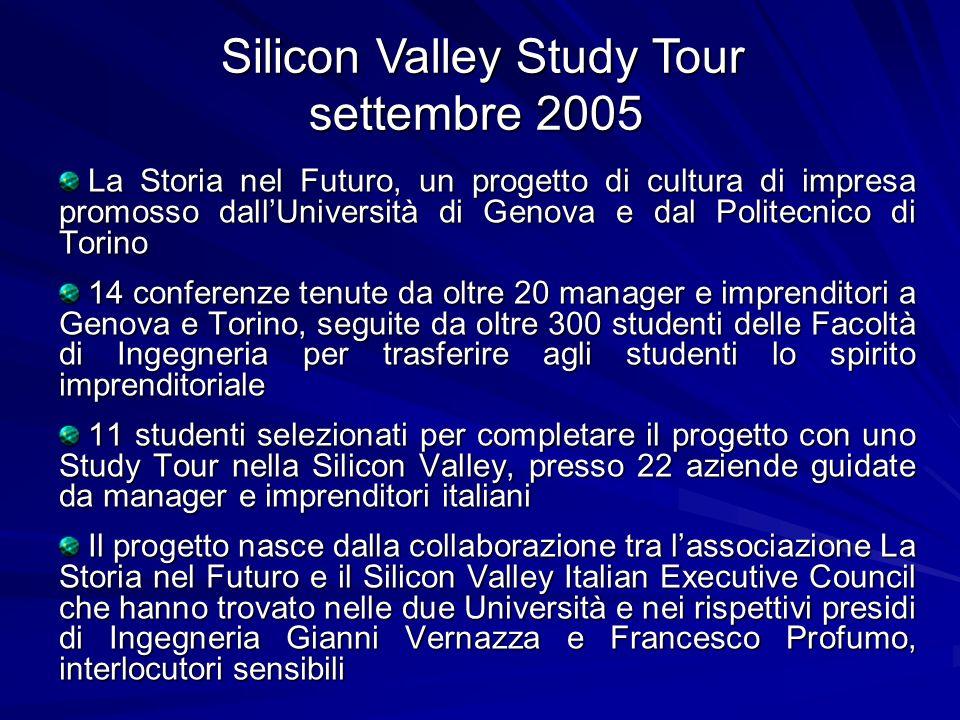 La Storia nel Futuro, un progetto di cultura di impresa promosso dallUniversità di Genova e dal Politecnico di Torino La Storia nel Futuro, un progett