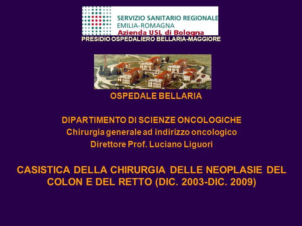 PRESIDIO OSPEDALIERO BELLARIA-MAGGIORE OSPEDALE BELLARIA DIPARTIMENTO DI SCIENZE ONCOLOGICHE Chirurgia generale ad indirizzo oncologico Direttore Prof
