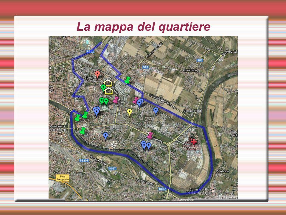La mappa del quartiere
