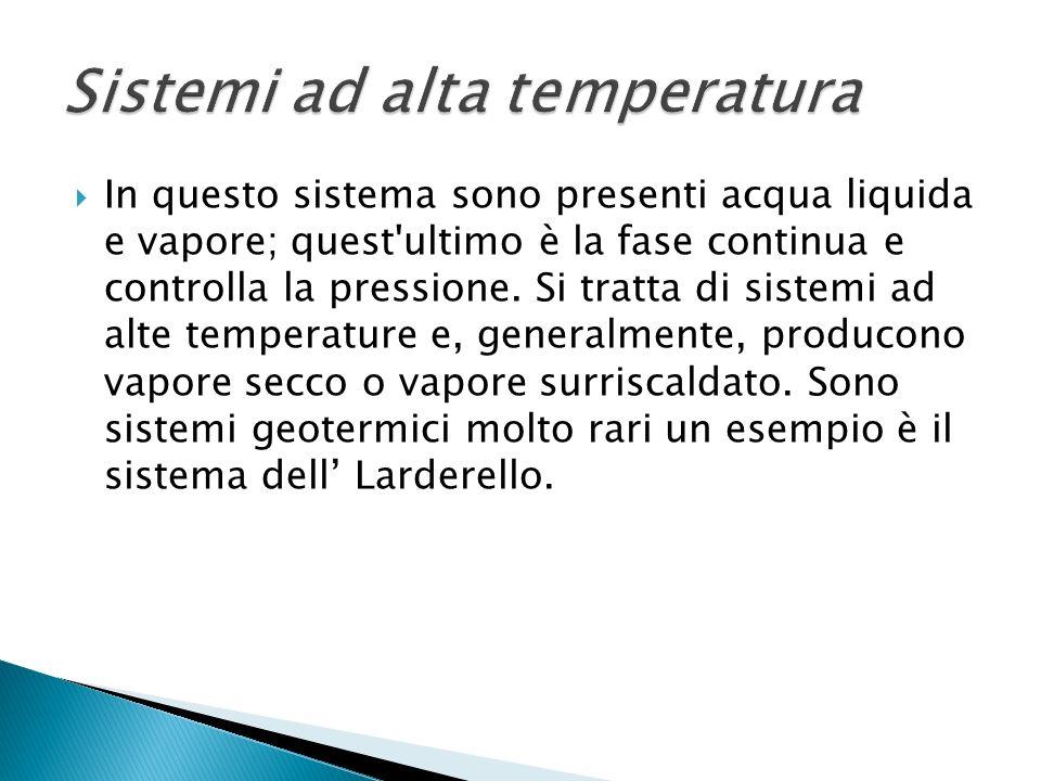 In questo sistema sono presenti acqua liquida e vapore; quest'ultimo è la fase continua e controlla la pressione. Si tratta di sistemi ad alte tempera