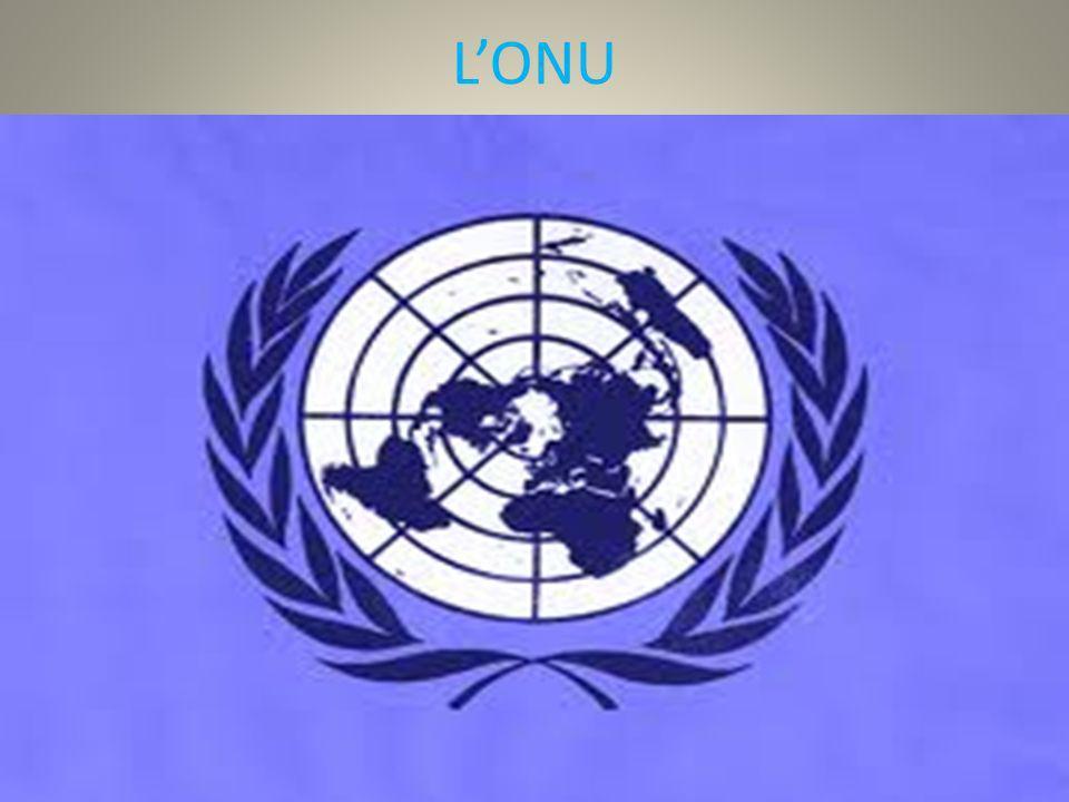 Lorganizzazione delle Nazioni Unite (ONU) è stata formata subito dopo la fine della seconda guerra mondiale il,24 giugno 1945, al fine di preservare la pace tra le varie nazioni della terra,attraverso la diplomazia e non attraverso le soluzioni militari e la guerra, in modo da non rivivere gli stessi orrori delle due guerre (la 1° e la 2° guerra mondiale).Ha sede a New York.