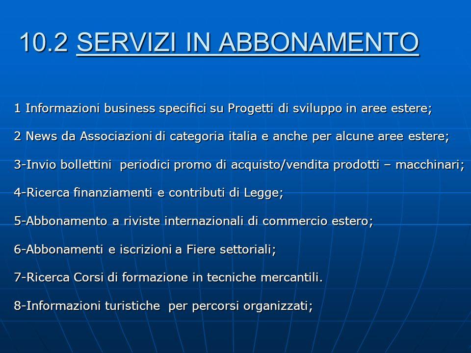 1 Informazioni business specifici su Progetti di sviluppo in aree estere; 2 News da Associazioni di categoria italia e anche per alcune aree estere; 3