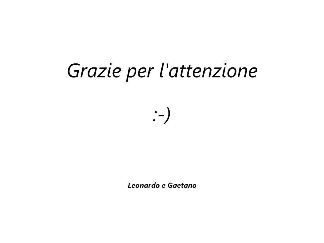 Grazie per l attenzione :-) Leonardo e Gaetano