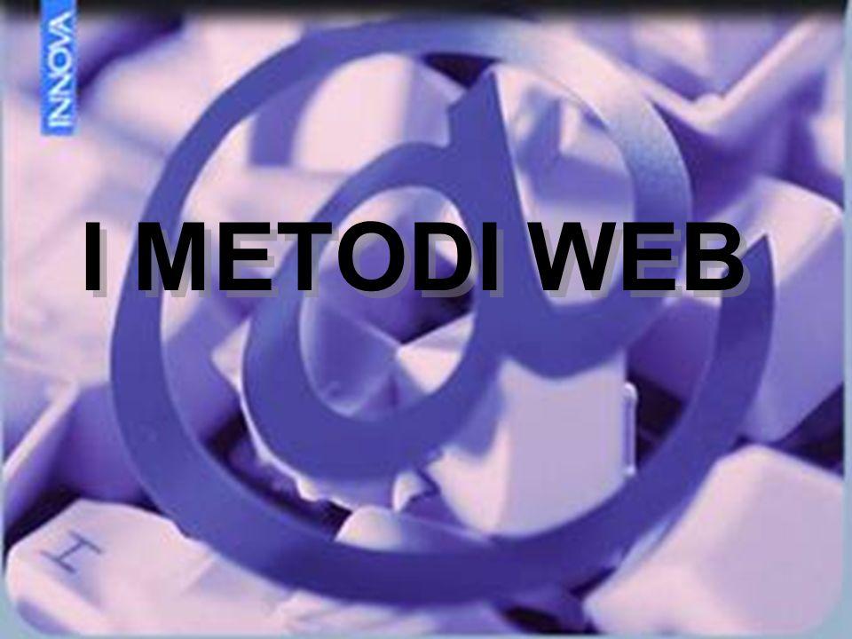 I METODI WEB I METODI WEB