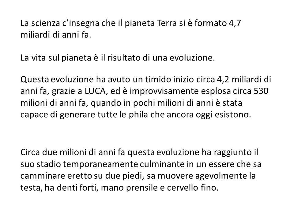 La scienza cinsegna che il pianeta Terra si è formato 4,7 miliardi di anni fa.