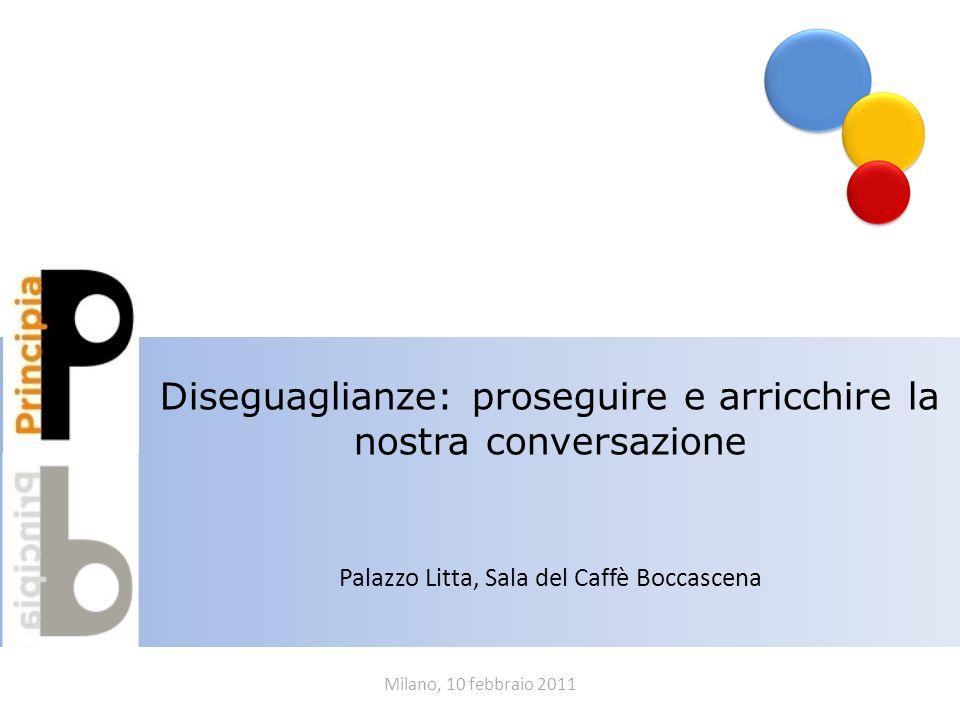 Milano, 10 febbraio 2011 Diseguaglianze: proseguire e arricchire la nostra conversazione Palazzo Litta, Sala del Caffè Boccascena