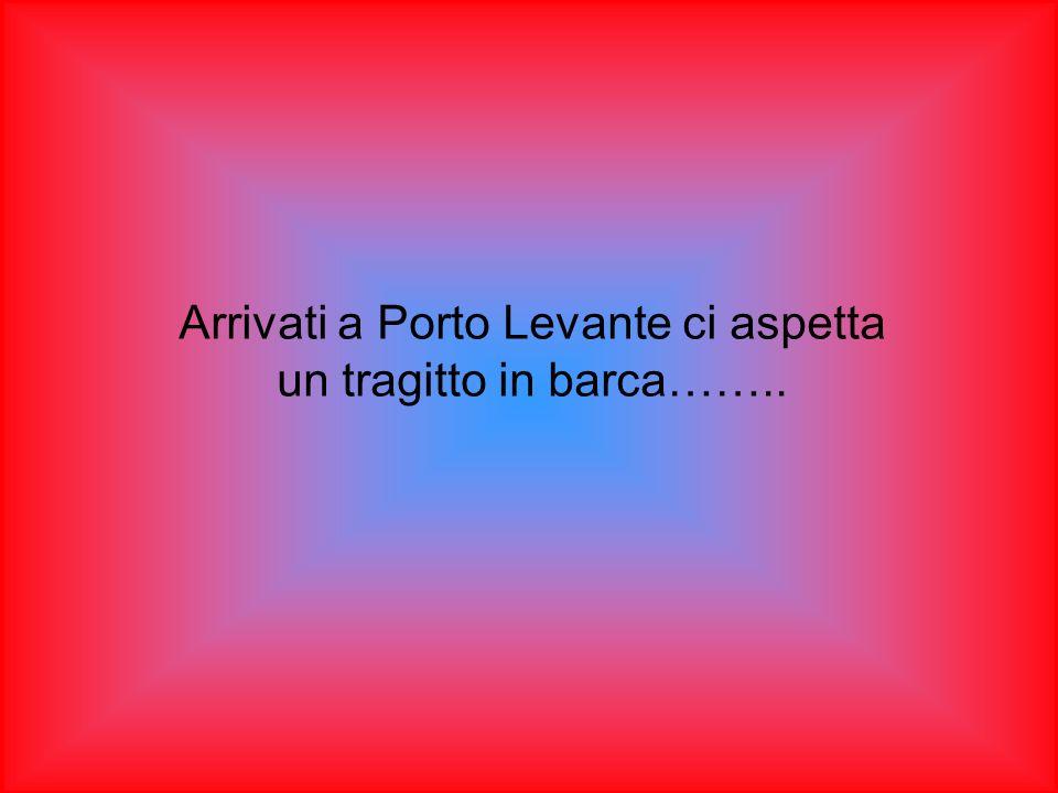 Arrivati a Porto Levante ci aspetta un tragitto in barca……..