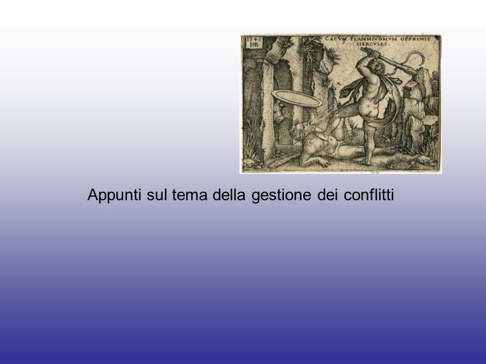 Appunti sul tema della gestione dei conflitti
