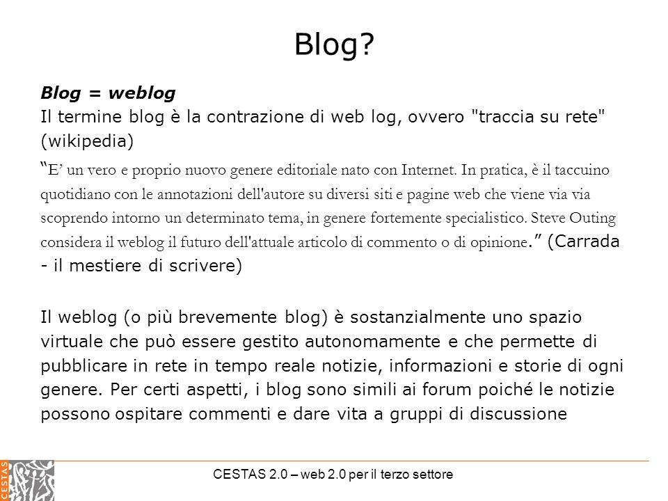 CESTAS 2.0 – web 2.0 per il terzo settore Blog.