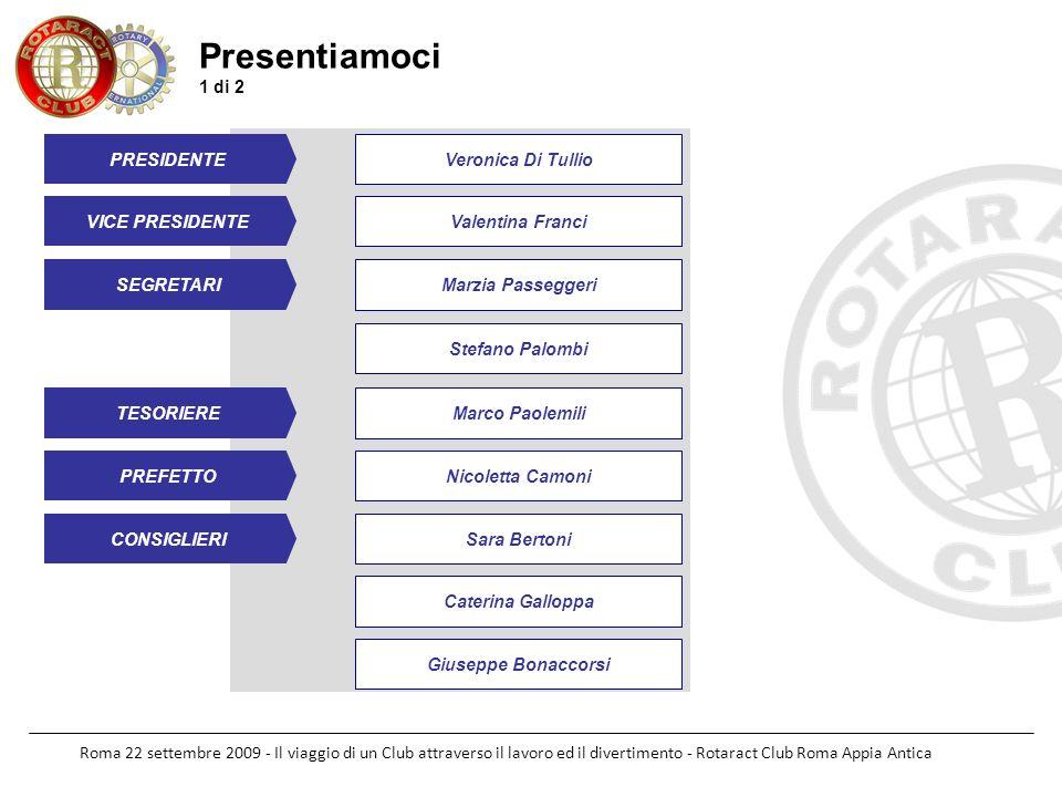 Roma 22 settembre 2009 - Il viaggio di un Club attraverso il lavoro ed il divertimento - Rotaract Club Roma Appia Antica Presentiamoci 1 di 2 PRESIDEN